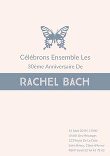 Rachel Bach  Carte d'anniversaire