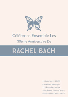 Rachel Bach  Invitation