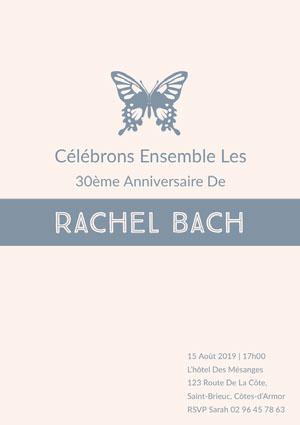 Rachel Bach  Invitation à une fête