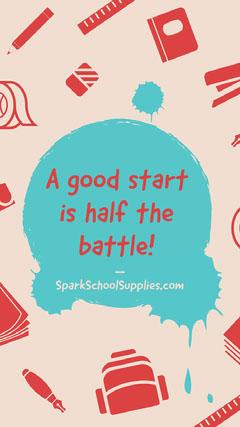 A good start is half the battle! Instagram Story