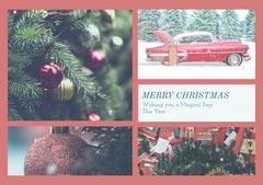 Light Toned Collage Christmas Card Christmas