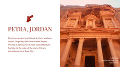 Petra Jordan Travel Postcard with Picture of Ruins and Description Desert