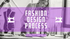 Purple Fashion Design Process Youtube Channel Art Tutorial
