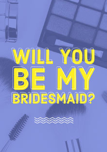WILL YOU BE MY BRIDESMAID? Convite de casamento