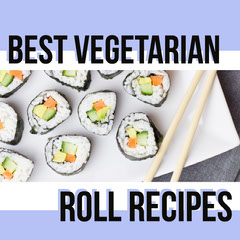 Blue and White Roll Recipes Social Post Sushi