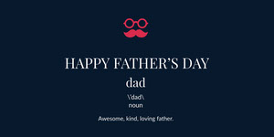 Black and White Father's Day Card Etiqueta de regalo