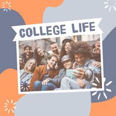 Blue & Orange College Life Instagram Square College