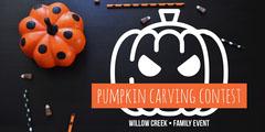 Orange and Black Pumpkin Carving Contest Eventbrite Graphic Contest