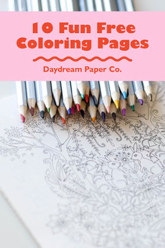 Pink and Red Coloring Pages for Children Pinterest Graphic with Colored Pencils Kids