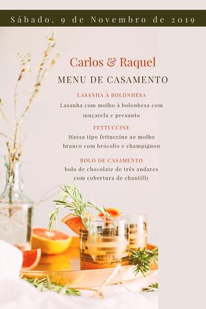 photo wedding menu  Menu