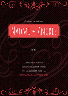Naomi + Andres Convite de casamento