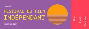 <BR>Festival du film indépendant  Billet de tombola