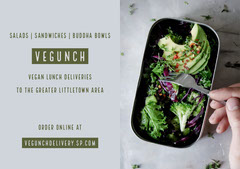 Green Delivery Lunch Flyer Vegan