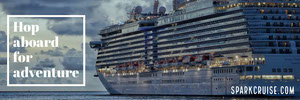 Cruise Horizontal Ad Banner with Cruise Ship Ads Banner
