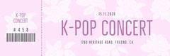Violet and White K-Pop Concert Ticket Concert Ticket