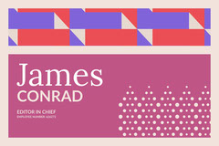 Violet With Colorful Pattern Business Card Chef