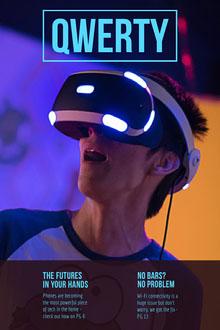 VR Headset Technology Magazine Cover Magazine Cover