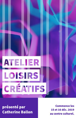 creative craft workshop poster Affiche d'art