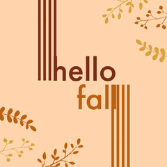 Brown and Beige Hello Fall Instagram Graphic Hello