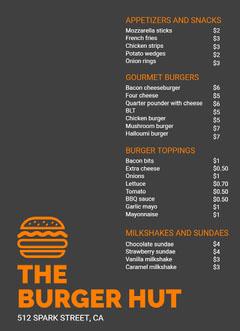 THE <BR>BURGER HUT Burger