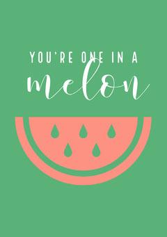 one in a melon farewell card Farewell