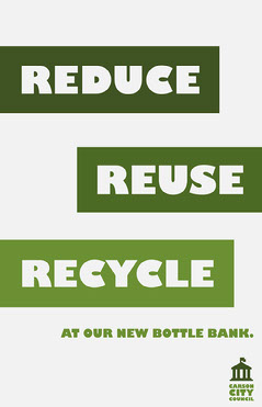 Green & White Bottle Bank Poster  Student Council Poster