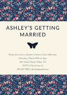 ASHLEY'S GETTING <BR>MARRIED  Convite de casamento