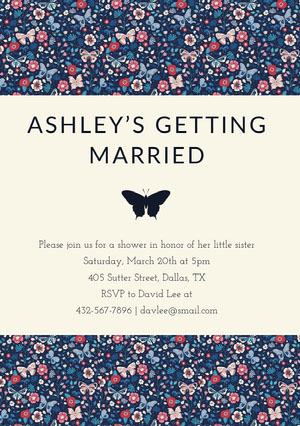 ASHLEY'S GETTING <BR>MARRIED  Bridal Shower Invitation
