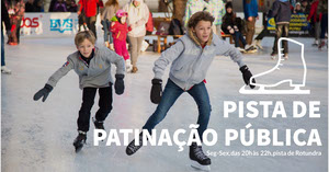 public ic skating rink banner ads  Banner de anúncio