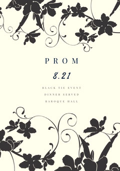 Black and White Prom Poster Black And White