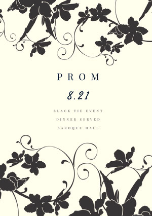 Black and White Prom Poster Pôster de evento