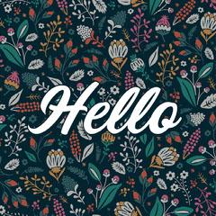 Colorful, Floral Hello Instagram Post Hello