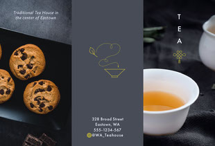 Tea House Brochure  Pamphlet