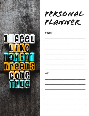 Personal Planner  Planner