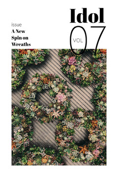 Magazine Cover with Wreaths Decor