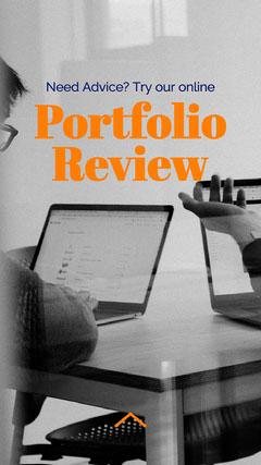 Orange and Gray Portfolio Review Instagram Story  Career Poster