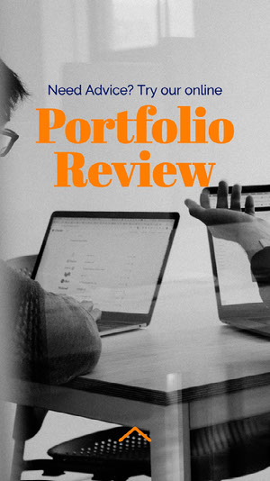 Orange and Gray Portfolio Review Instagram Story   Portafolio online