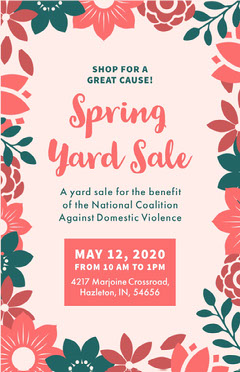 Spring Yard Sale Yard Sale Flyer