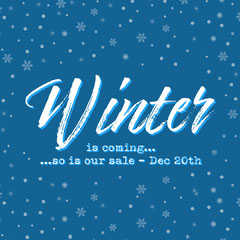 Blue White Winter Is Coming Instagram Square  Holiday Sale