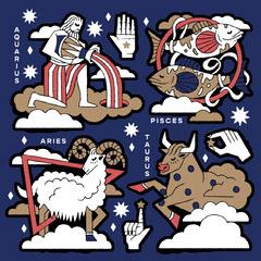 Zodiac Sticker Pack Sign