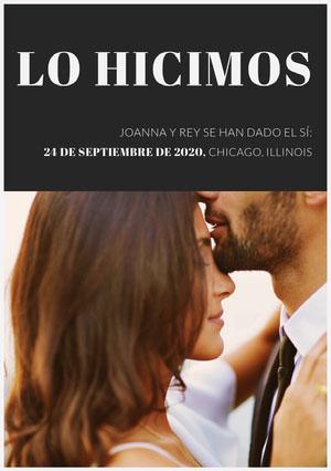 we did wedding announcements  Anuncio de boda