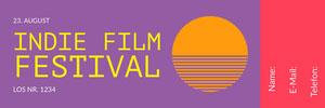 <BR>Indie Film Festival  Eintrittskarte