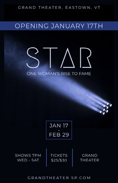 star sporlight play drama theater poster Play Poster