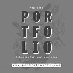 Gray Designer Portfolio Cover Instagram Square New Collection