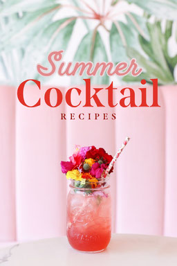 Pink Summer Cocktail Recipes Pinterest Post
