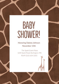 White and Brown Baby Shower Invitation Convite para chá de bebê
