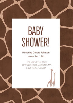 White and Brown Baby Shower Invitation Baby Shower (Girl)