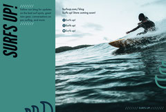 Turquoise Surfing Blog Brochure Wave