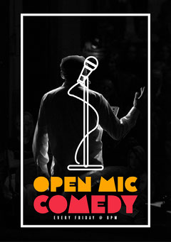 Open Mic Comedy Flyer  Comedy