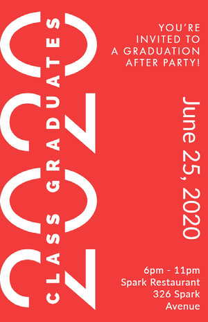Red and White Graduation Poster Graduation Poster